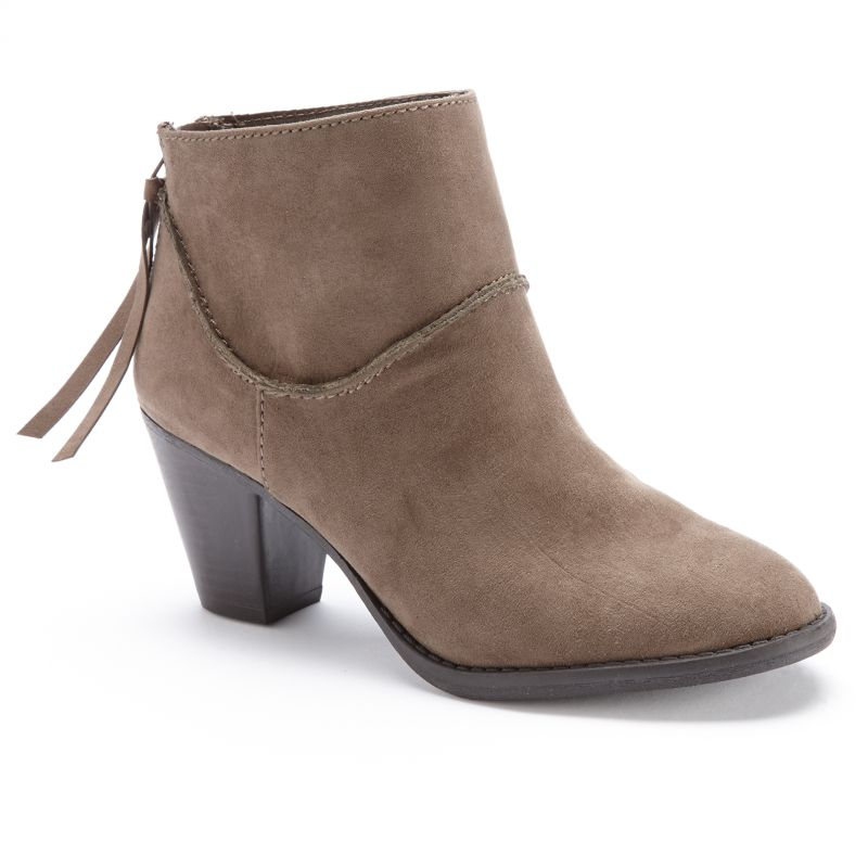 black zipper ankle boots kohl s
