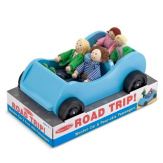 Melissa and Doug Road Trip Wooden Car and Pose-able Passengers