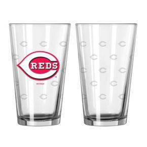 Cincinnati Reds 2-pc. Etched Pint Glass Set