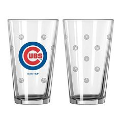 Chicago Cubs 2 pc Pint Glass Set