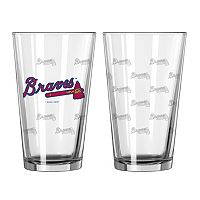Atlanta Braves 2-pc. Pint Glass Set