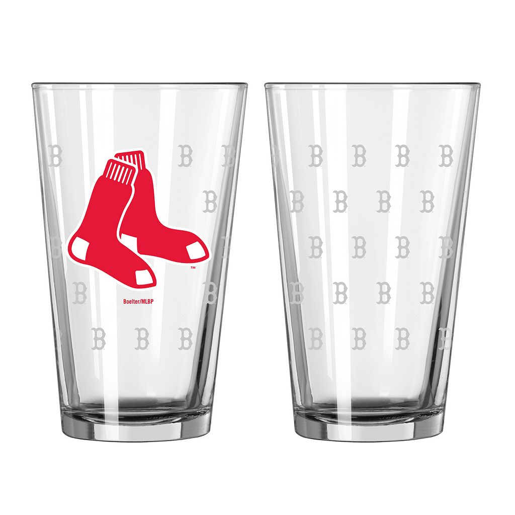 Boston Red Sox 2-pc. Pint Glass Set