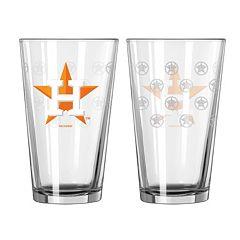 Houston Astros 2-pc. Pint Glass Set