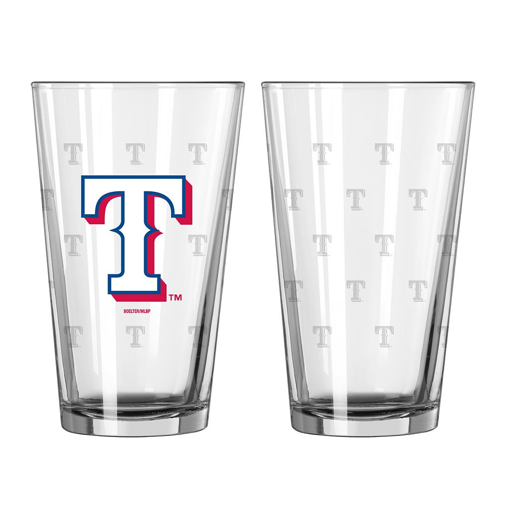 Texas Rangers 2-pc. Pint Glass Set