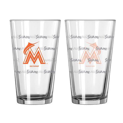 Miami Marlins 2-pc. Pint Glass Set