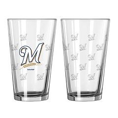 Milwaukee Brewers 2-pc. Pint Glass Set
