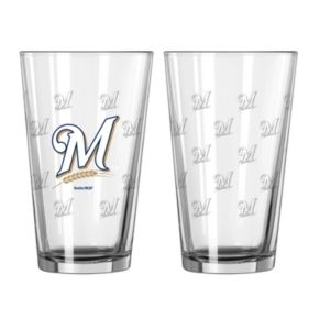 Milwaukee Brewers 2-pc. Pint Glass Set