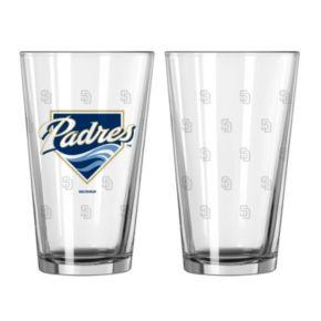 San Diego Padres 2-pc. Pint Glass Set