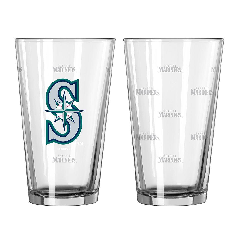 Seattle Mariners 2-pc. Pint Glass Set