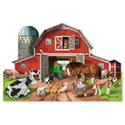 Melissa & Doug Busy Barn Shaped 32 pc Floor Puzzle