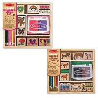Melissa & Doug Friendship & Horses Wooden Stamp Set Bundle