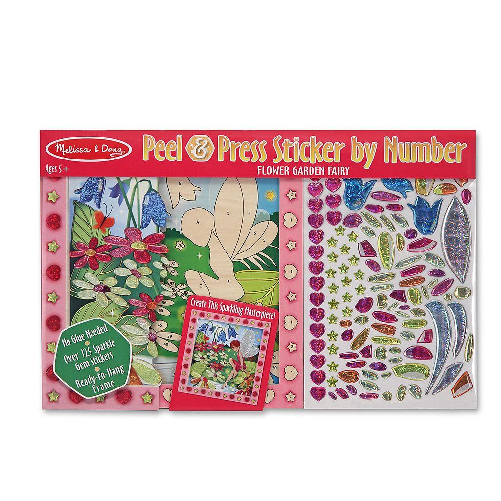 Melissa & Doug Peel & Press Sticker by Number Flower Garden Fairy