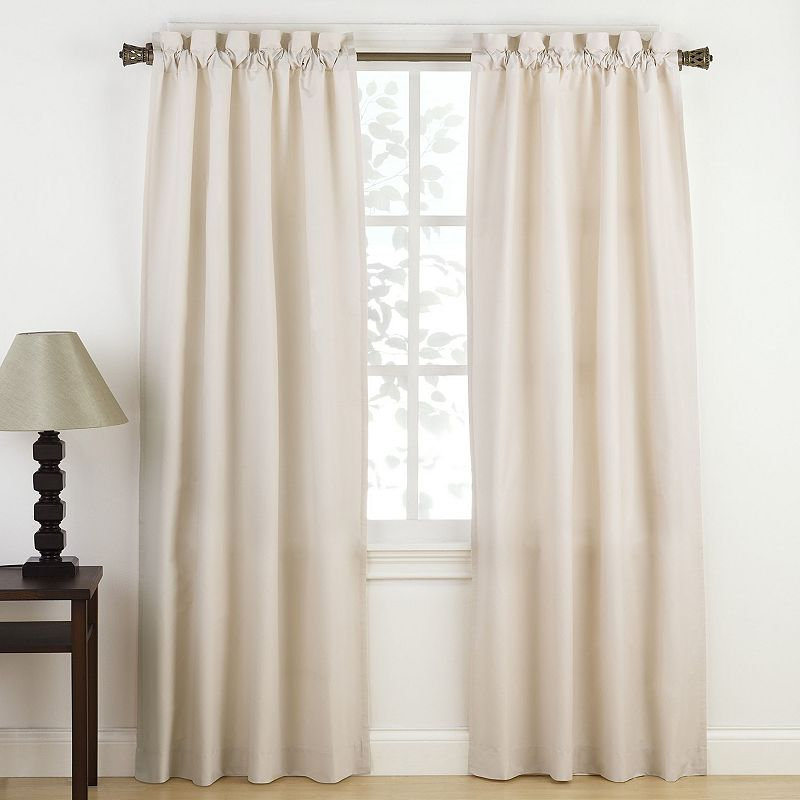 Keep your window looking simple and stylish with this Pairs To Go 2-pack Montana curtain. Features 2 panels Top tab 1-in. max rod diameter Solid pattern Matte finish Sizing Single panel: 30 x 63 (total width: 60 x 63) Single panel: 30 x 84 (total width: 60 x 84) Single panel: 30 x 95 (total width: 60 x 95) Construction & Care Polyester Machine wash Imported Size: 30X