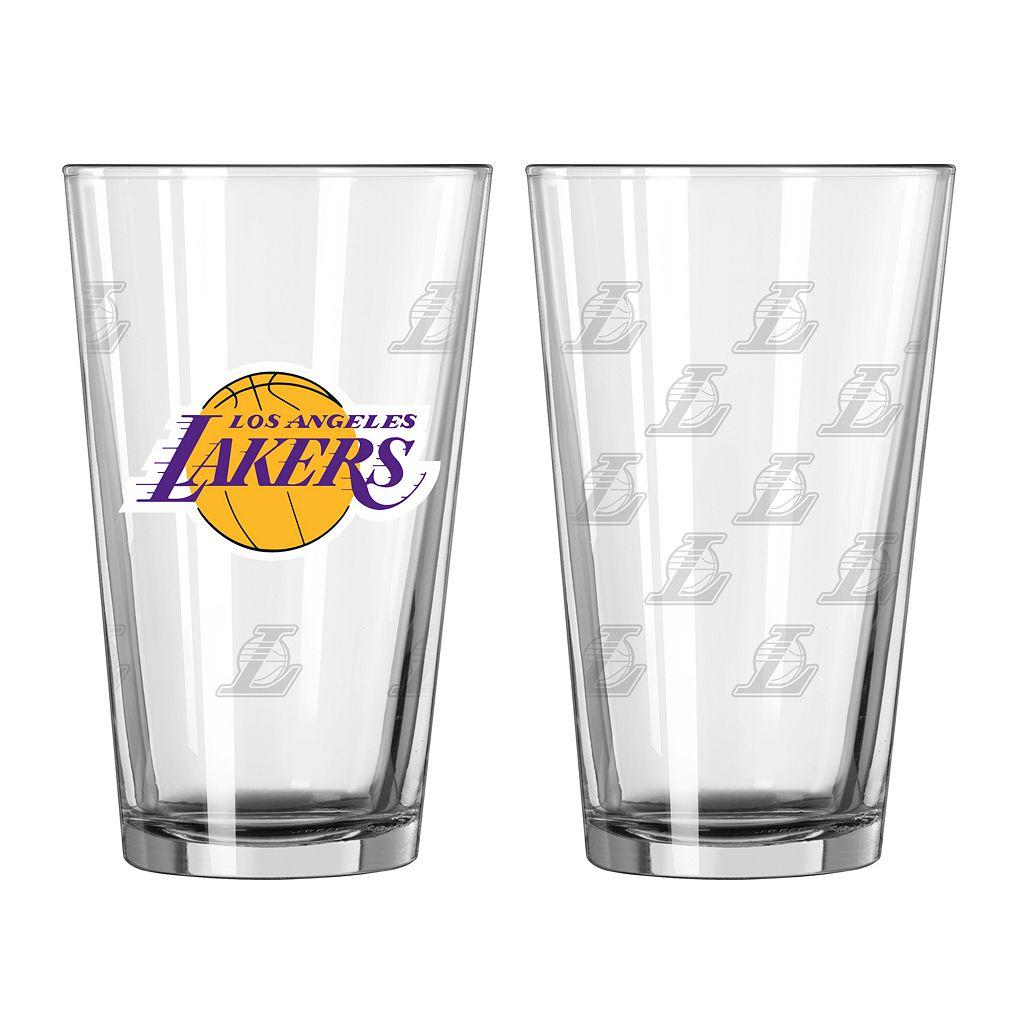 Los Angeles Lakers 2-pc. Pint Glass Set