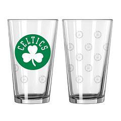 Boston Celtics 2-pc. Pint Glass Set