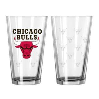 Chicago Bulls 2-pc. Pint Glass Set