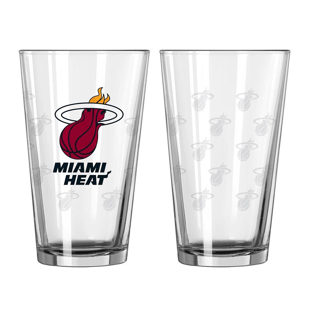 Miami Heat 2-pc. Pint Glass Set