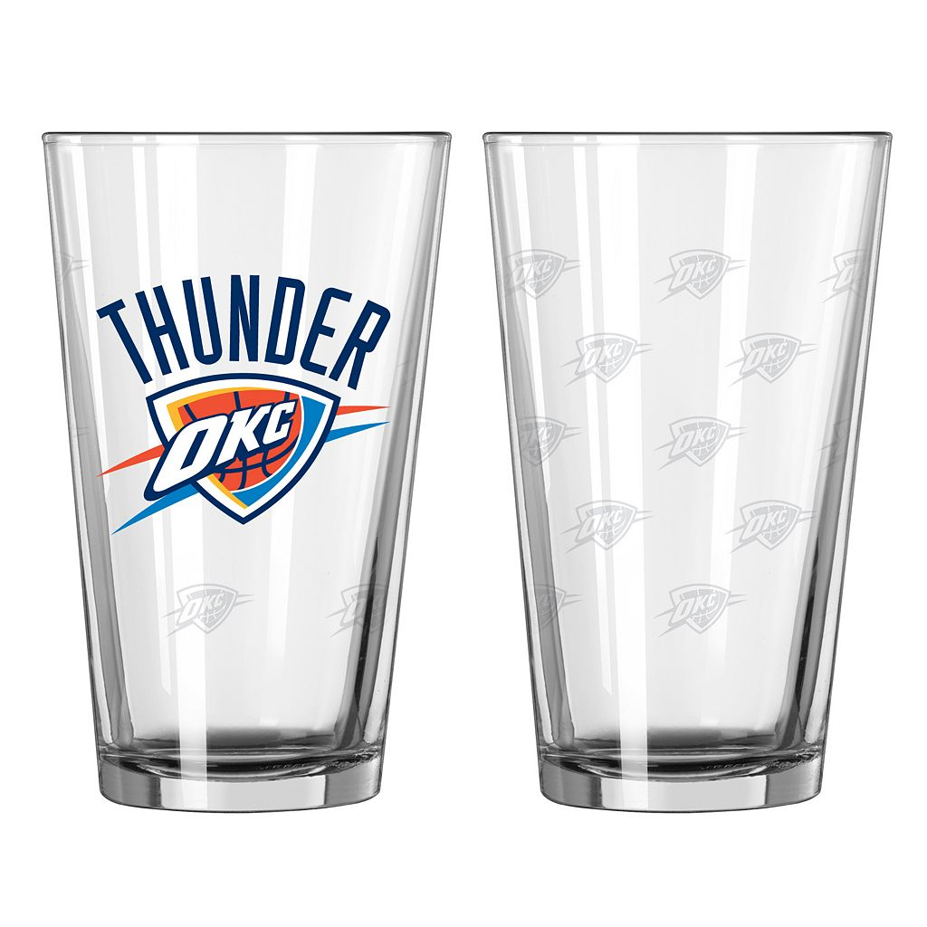 Oklahoma City Thunder 2-pc. Pint Glass Set