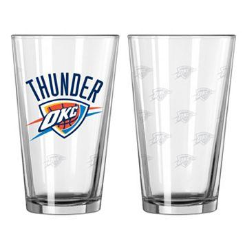 Oklahoma City Thunder 2-pc. Pint Glass Set