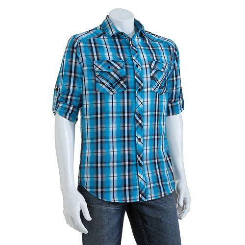 Rock /& Roll Cowboy Boys and Satin Plaid Shirt