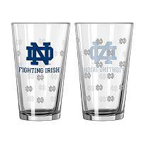 Notre Dame Fighting Irish 2 pc Pint Glass Set