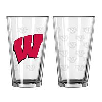 Wisconsin Badgers 2 pc Pint Glass Set