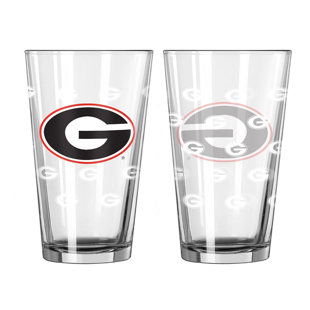 Georgia Bulldogs 2-pc. Pint Glass Set