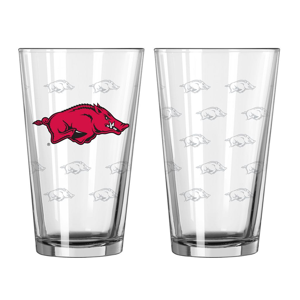 Arkansas Razorbacks 2-pc. Pint Glass Set