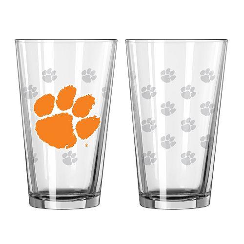 Clemson Tigers 2-pc. Pint Glass Set