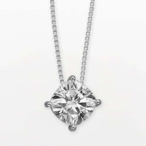 Forever Brilliant 14k White Gold Cushion-Cut 2-ct. T.W. Lab-Created Moissanite Pendant