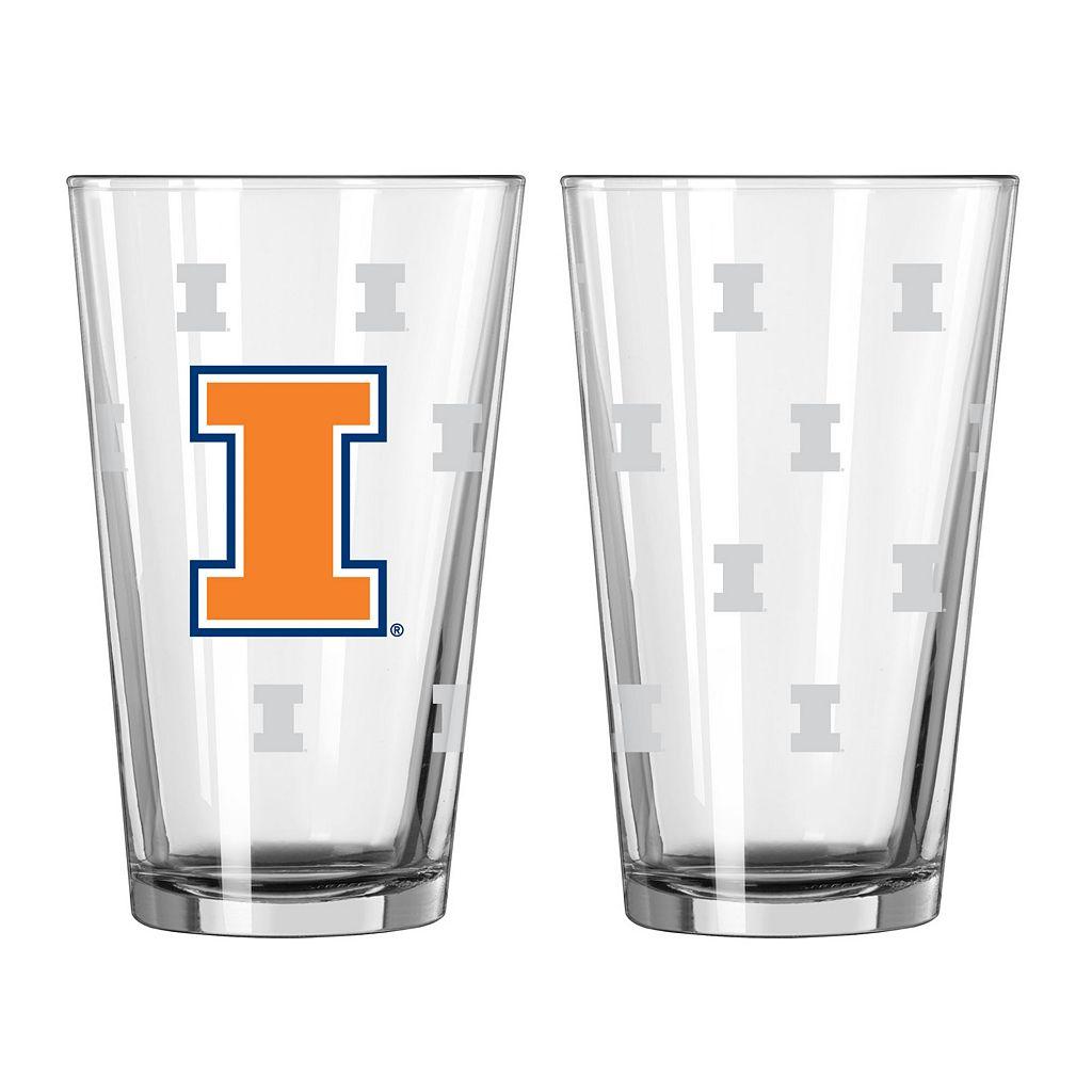 Illinois Fighting Illini 2-pc. Pint Glass Set
