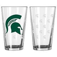 Michigan State Spartans 2 pc Pint Glass Set