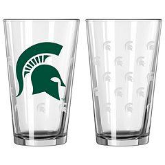 Michigan State Spartans 2 pc Pint Glass Set