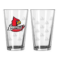 Louisville Cardinals 2-pc. Pint Glass Set