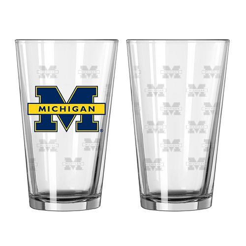 Michigan Wolverines 2-pc. Pint Glass Set