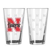Nebraska Cornhuskers 2 pc Pint Glass Set