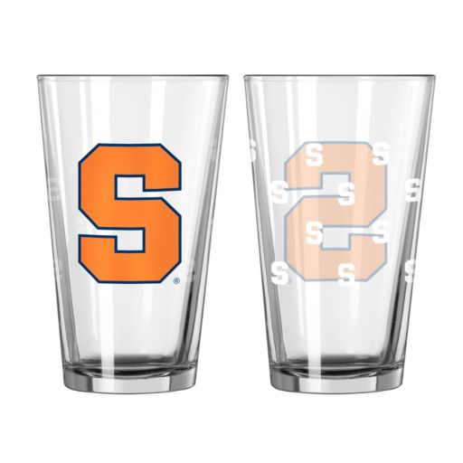 Syracuse Orange 2-pc. Allover Logo Pint Glass Set