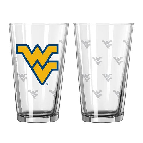 West Virginia Mountaineers 2-pc. Pint Glass Set