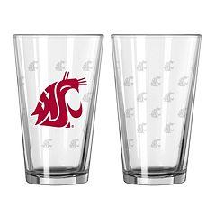 Washington State Cougars 2 pc Pint Glass Set