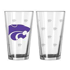 Kansas State Wildcats 2 pc Pint Glass Set