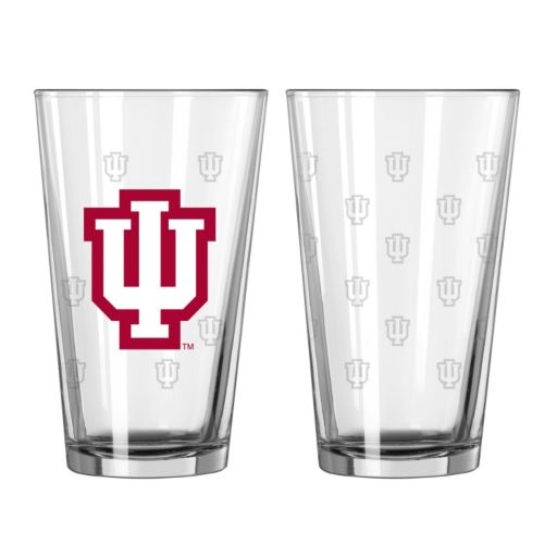 Indiana Hoosiers 2-pc. Etched Pint Glass Set