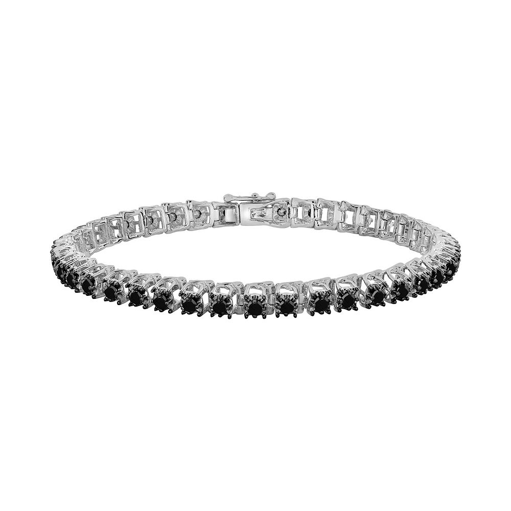 T W Black Diamond Tennis Bracelet