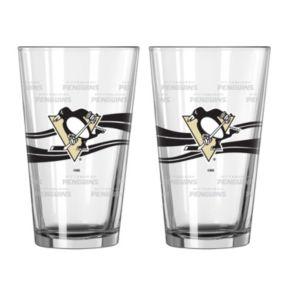 Pittsburgh Penguins 2-pc. Pint Glass Set