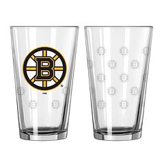 Boston Bruins 2 pc Pint Glass Set