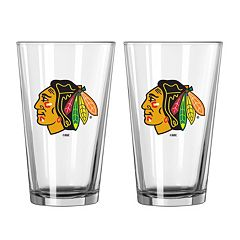 Chicago Blackhawks 2-pc. Pint Glass Set