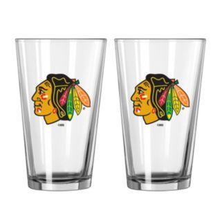 Chicago Blackhawks 2-pc. Pint Glass Set