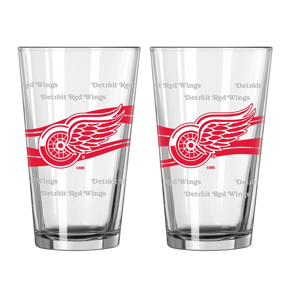 Detroit Red Wings 2-pc. Pint Glass Set