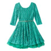 Knitworks Lace Skater Dress - Girls 7-16