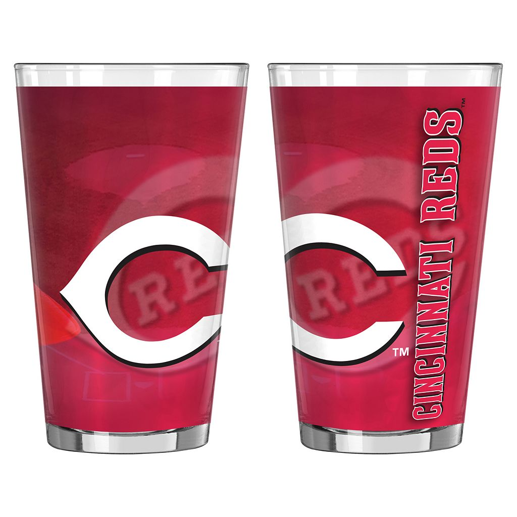 Cincinnati Reds 2-pc. Pint Glass Set