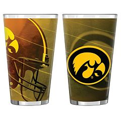 Iowa Hawkeyes 2 pc Pint Glass Set